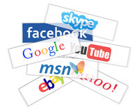 Social network logos Royalty Free Stock Photos