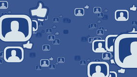 Social network loop media concept facebook