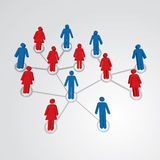 Social network map Royalty Free Stock Image