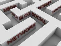 Social network - maze Royalty Free Stock Photo