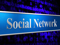 Social Network Means Togetherness Connected And Friends Royalty Free Stock Photos