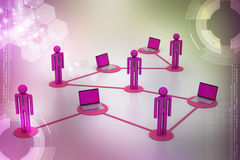 Social network and media concept stock illustration