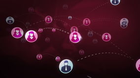 Social network media concept stock footage