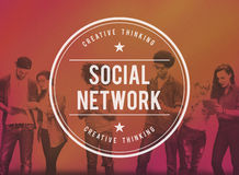 Social Network Media Connection Communication Concept Stock Image