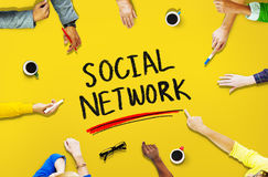 Social Network Media Internet Online People Sharing Concept royalty free stock photos
