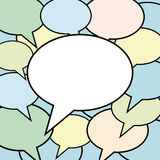 SOCIAL NETWORK media speech bubble cloud. Vector illustration Social media with lots of speech bubbles  on white Stock Photo