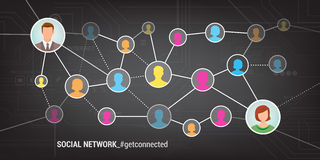 Social network vector illustration