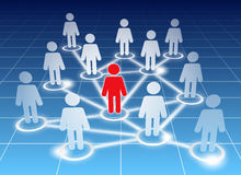 Social network members Stock Image