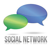 Social network message bubble illustration Royalty Free Stock Photo