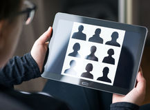 Social network on mobile Stock Photography