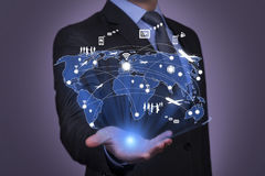 Social network and Modern communication technology Royalty Free Stock Photo