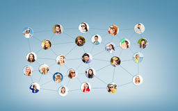 Social network. Networking and communication concept - social network Stock Images