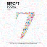 Social network number background with media icons Royalty Free Stock Photography