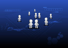 Social network online Stock Images