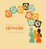 Social network Royalty Free Stock Images