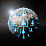 Social network over the world Stock Photography
