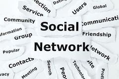 Social network from paper scraps Stock Photo
