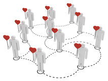 Social network, people familiar with love concept Royalty Free Stock Photos