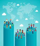 Social network people global growth Royalty Free Stock Photos