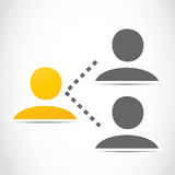 Social network people group Stock Images