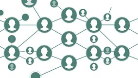 Social Network People Icon Link Connection Technology Loop Animation. Beautiful Digital Interface with Icons and Links