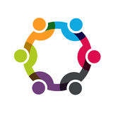 People logo. Social network Stock Images
