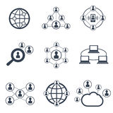 Social network with people symbols. Vector icons set Royalty Free Stock Photography