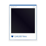 Social network photo frame on white background. Modern design Royalty Free Stock Photos