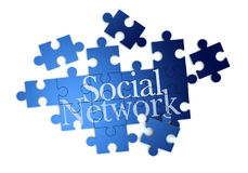 Social network puzzle Stock Images