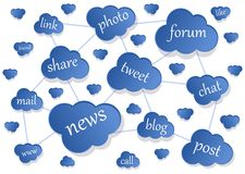 Social network representation Royalty Free Stock Photography