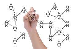 Social network scheme stock images