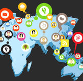 Social network scheme Royalty Free Stock Images