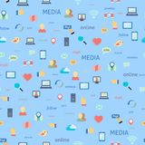 Social network seamless Stock Photos
