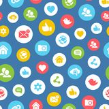 Social network seamless pattern Stock Images