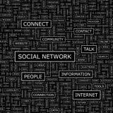 SOCIAL NETWORK. Seamless pattern. Word cloud illustration Stock Photo