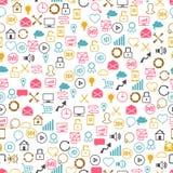 Social network seamless pettern of SEO internet Stock Photo