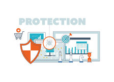 Social network security and data protection. Investment Royalty Free Stock Photos