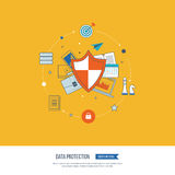 Social network security and data protection. Investment security. Stock Photography