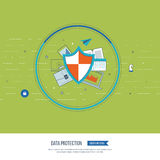 Social network security and data protection. Investment security. Stock Image