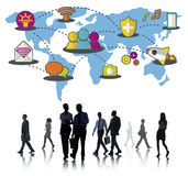 Social Network Sharing Global Communications Connection Concept Royalty Free Stock Image