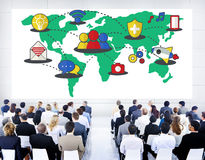 Social Network Sharing Global Communications Connection Concept Stock Images