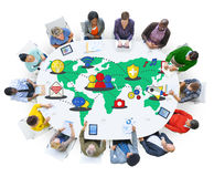 Social Network Sharing Global Communications Connection Concept.  royalty free stock image