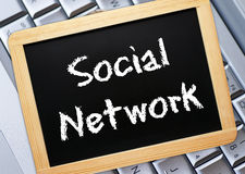 Social network sign Royalty Free Stock Image