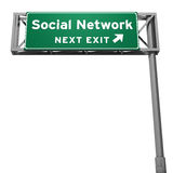 Social network sign Royalty Free Stock Photos