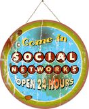 Social network sign, Royalty Free Stock Image