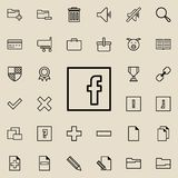 social network sign icon. Detailed set of minimalistic icons. Premium graphic design. One of the collection icons for websites, we royalty free illustration