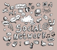 Social network signs and symbols Stock Image