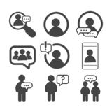 Social network simple icons isolated on white background royalty free illustration