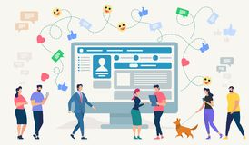 Free Social Network Site. Vector Illustration. Royalty Free Stock Images - 125108239