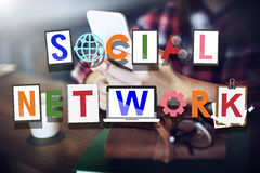 Social Network Social Medai Technology Connected Concept Stock Photography